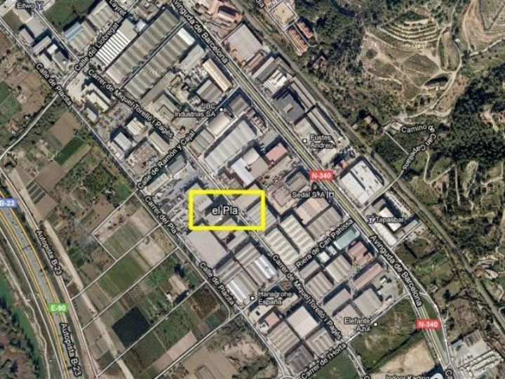 Industrial Plot for rent at Molins de Rei