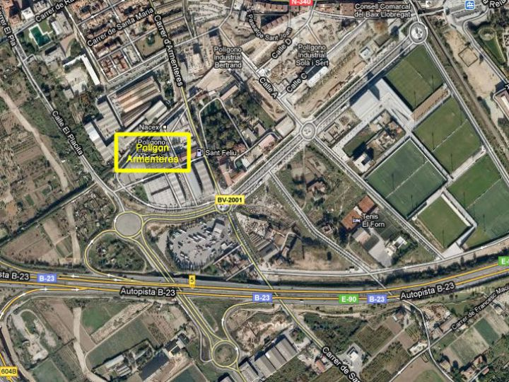 Industrial Land for rent at Sant Feliu de Llobregat